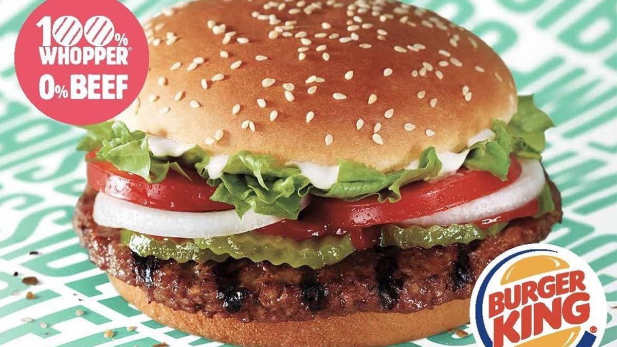 Burguer King lanza su primera hamburguesa vegana.