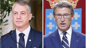 Feijóo i Urkullu prenen possessió com a presidents de Galícia i Euskadi