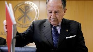 Sanz Roldán, el director del centro Nacional de Inteligencia, el 2 de marzo del año pasado, durante una conferencia en València.