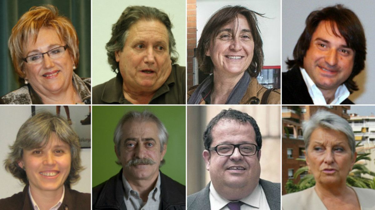 De izquierda a derecha y de arriba abajo,Maite Arqué, Jaume Bosch, Itziar González, Francesc de Dalmases, Carme Porta, Francesc Pané, Joan Ignasi Elena y Carme Laura Gil.