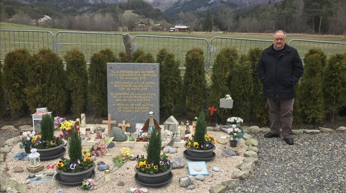Homenaje a las víctimas de Germanwings en Le Vernet, en los Alpes franceses.
