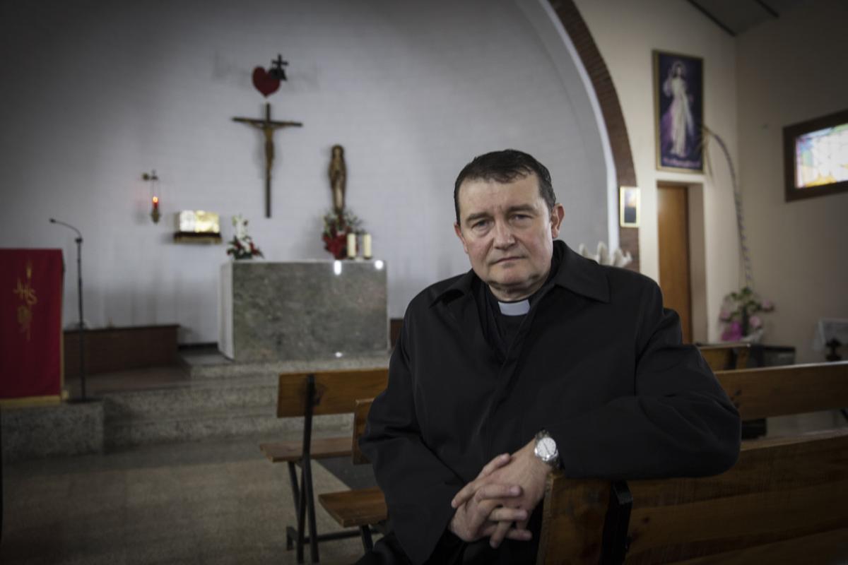 Custodio Ballester, el sacerdote de la parroquia Immaculada Concepció de L'Hospitalet.