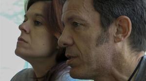 Mónica G. Prieto y Javier Espinosa durante la entrevista con EL PERIÓDICO.
