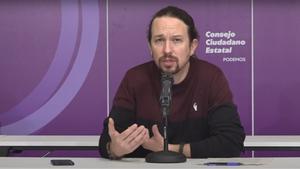 El candidato de Unidas Podemos a las elecciones del 4-M, Pablo Iglesias.