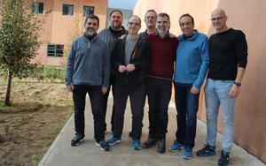 Jordi Sánchez, Oriol Junqueras, Jordi Turull, Joaquim Forn, Jordi Cuixart, Josep Rull y  Raul Romeva en la prisión de Lledoners