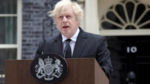 El primer ministro británico, Boris Johnson, comparece tras la noticia de la muerte del duque de Edimburgo.