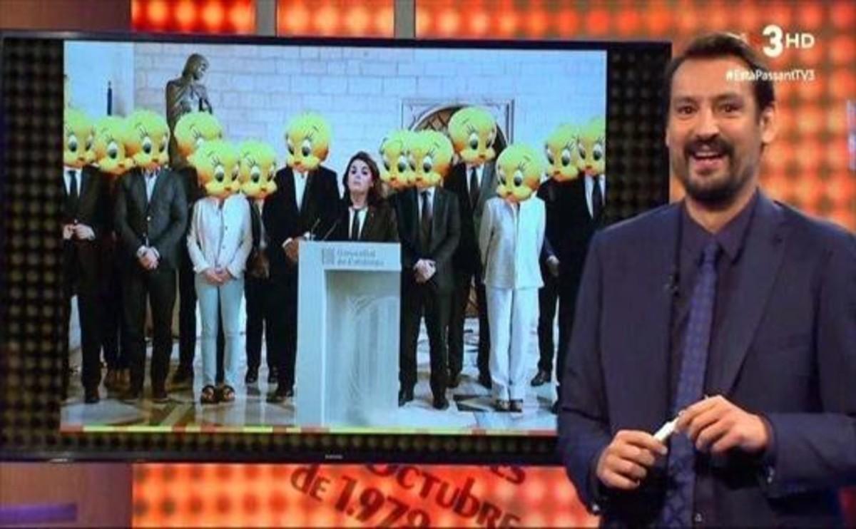 Òscar Andreu dibujó el nuevo Govern (TV-3)