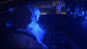 El juez Pablo Llarena, en el vehículo en el que se desplazó a Palafrugell.
