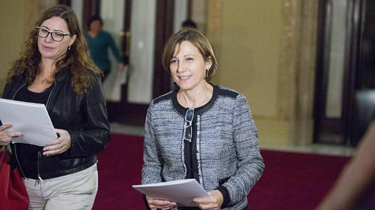La nueva presidenta del Parlament es Carmen Forcadell.