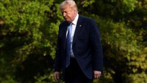 Donald Trump, en la Casa Blanca, el domingo, 14 de junio.