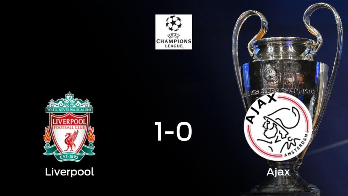 Triunfo del Liverpool por 1-0 frente al Ajax