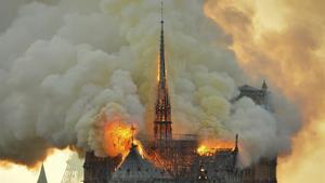 Notre Dame el pasado 16 de abril del 2019.