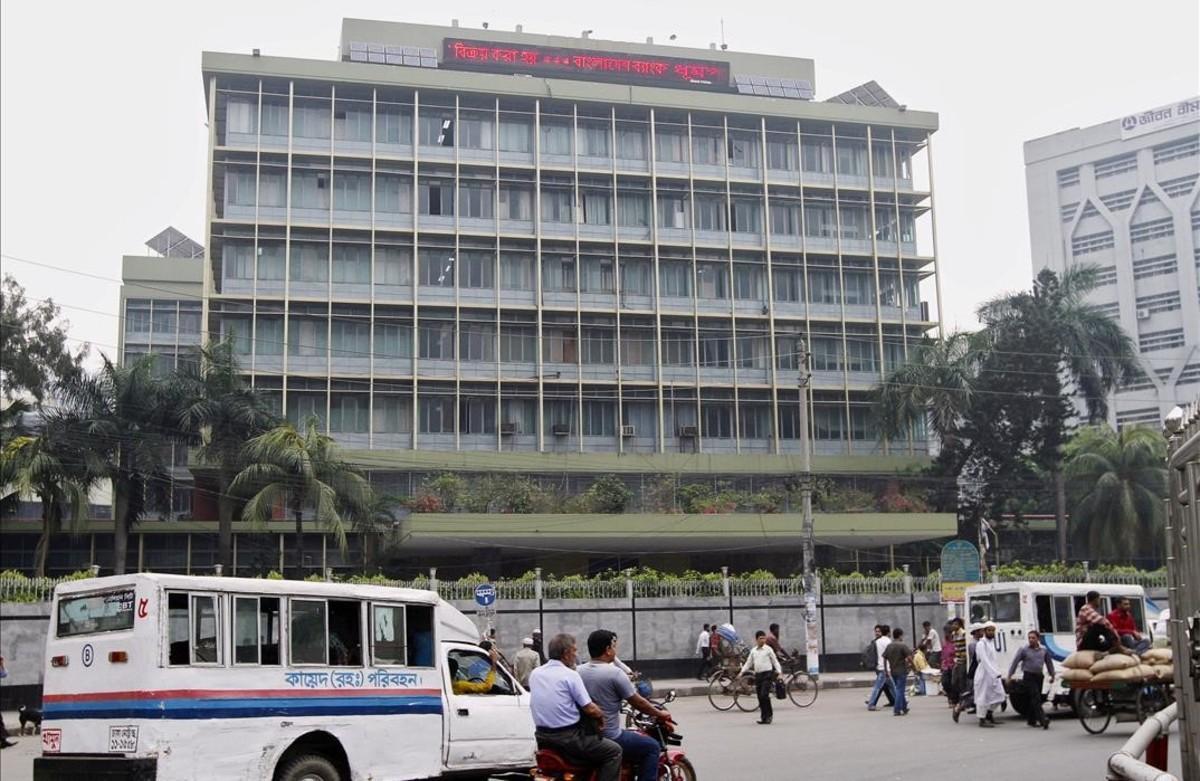 El banco central de Bangladesh, en Dhaka, el pasado mes de marzo.