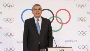 El presidente del COI Thomas Bach.