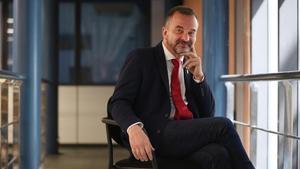 El 'conseller' de Exteriors, Alfred Bosch, en la redacción de EL PERIÓDICO