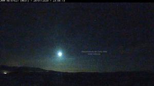 Una bola de fuego proveniente de un asteroide sobrevuela Andalucía.