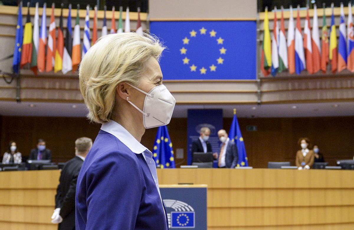 La presidenta de la Comisión Europea, Ursula von der Leyen, el pasado marzo en Bruselas.