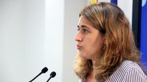 La coordinadora general del PDECat, Marta Pascal, en la sede del partido en Barcelona.