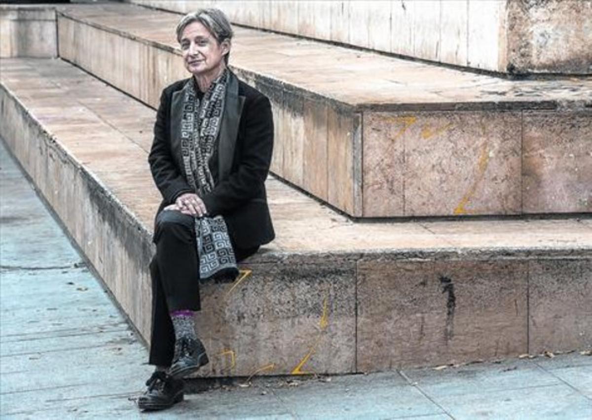 Judith Butler, en el CCCB, donde dictó la conferencia 'Cuerpos que aún importan', dentro del ciclo '+ Humans'.
