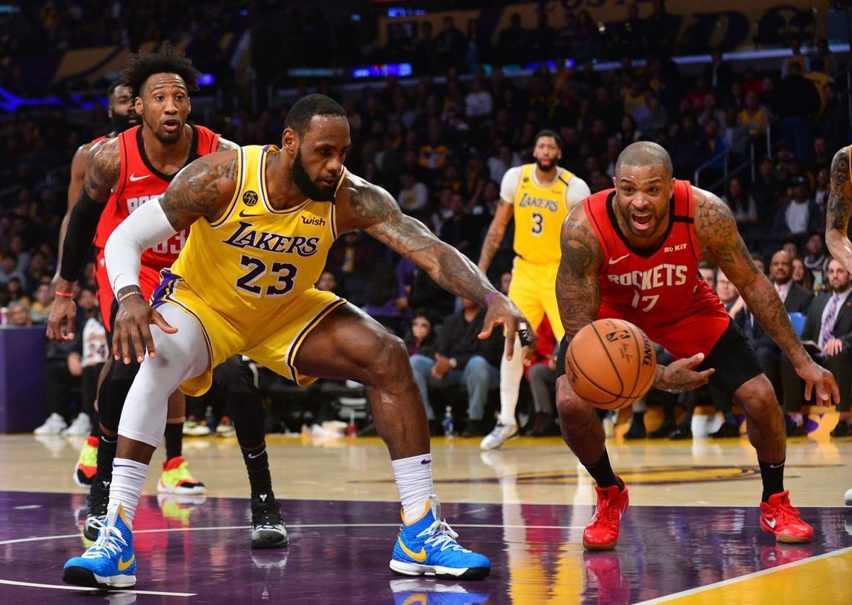 Lebron James, con los Lakers.