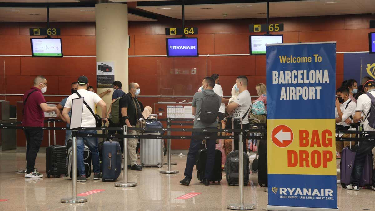 La Terminal 2 del aeropuerto de Barcelona-El Prat, el día en que ha vuelto a abrir.
