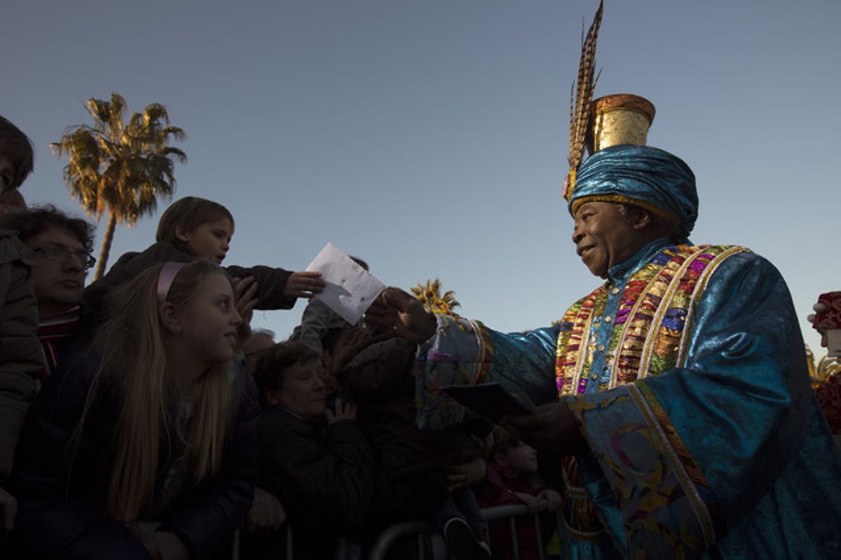 Els Reis d'Orient arriben a Barcelona.
