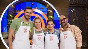Saúl Craviotto, Patricia Montero, Sílvia Abril y José Corbacho, los cuatro finalistas de la segunda edición de 'Masterchef celebrity' (TVE-1).
