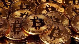 Las representaciones de la moneda virtual Bitcoin.