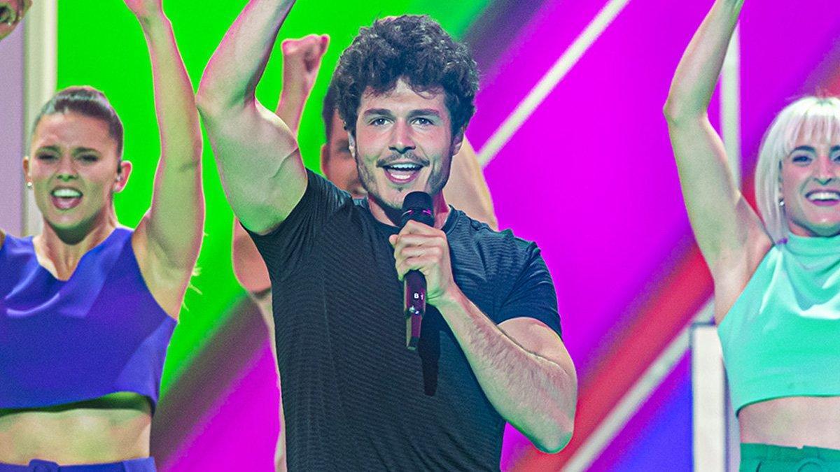 Miki, sobre el escenario de Eurovisión 2019.