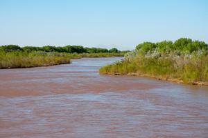 Una imagen del río Bravo.