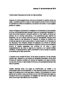 Carta de De Páramo