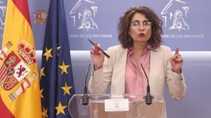 España cancela los objetivos de déficit y la deuda tras suspender las reglas fiscales. Lo ha explicado la ministra deHacienda y portavoz del Gobierno, María Jesús Montero.