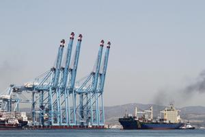 Terminalde contenedores del Puerto de Algeciras (Cádiz).
