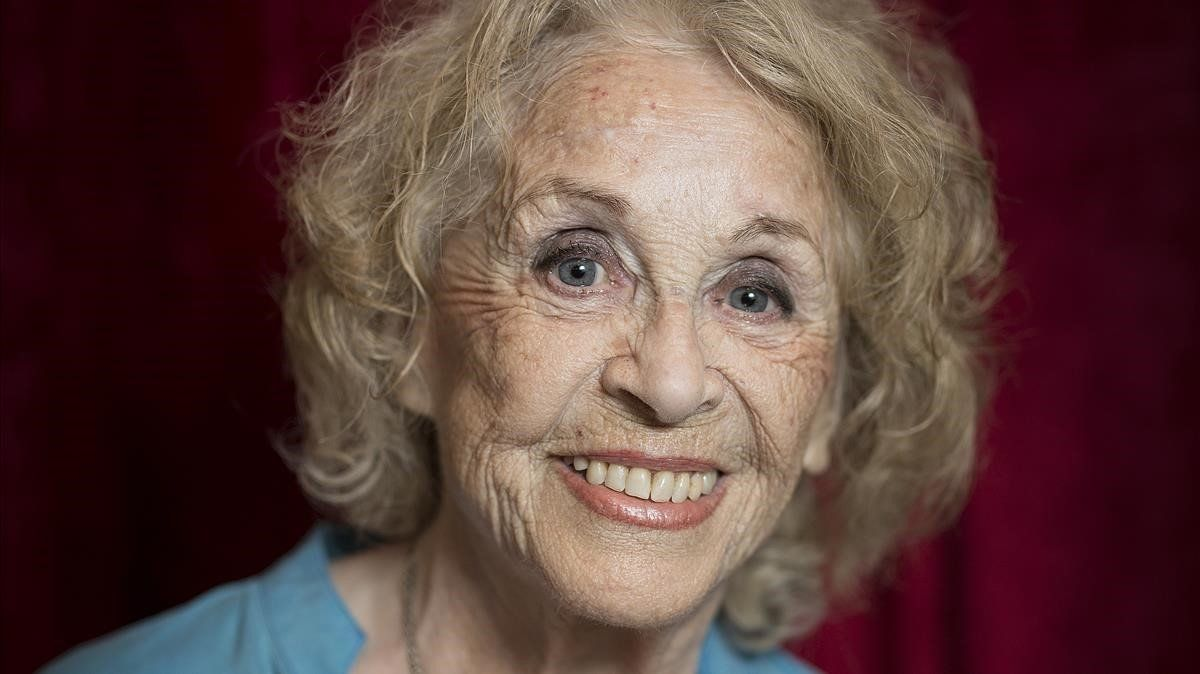 Montserrat Carulla, en el teatro Romea, enabril del 2016.