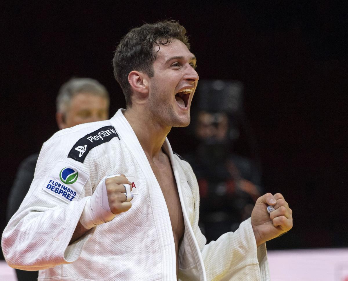 Niko Sherazadishvili celebra su segundo título mundial