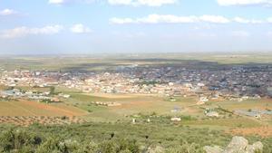 Vista general de la localidad manchega de Villarrubia de los Ojos (Ciudad Real).
