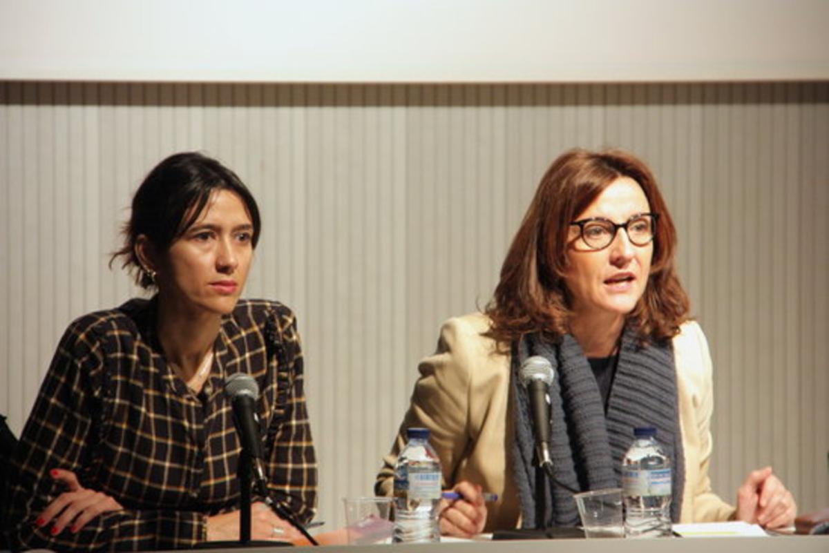 Parlon y Conesa, durante la presentación de la campaña.