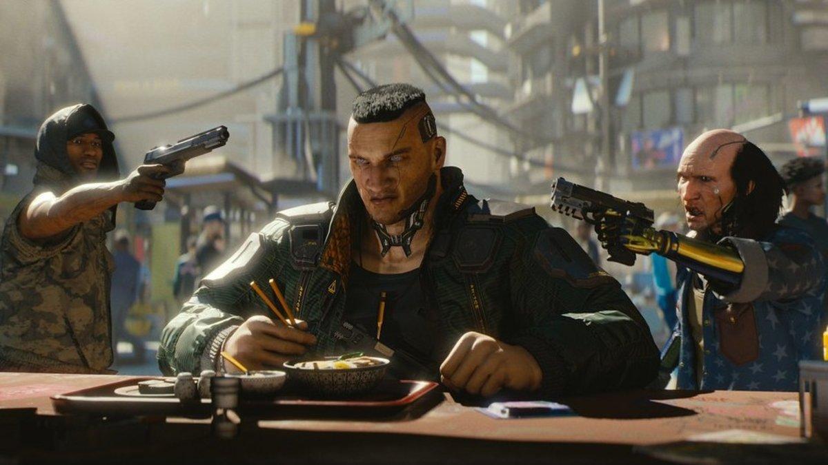Imagen del videojuego Cyberpunk 2077.