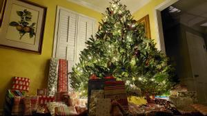 Un árbol de Navidad.