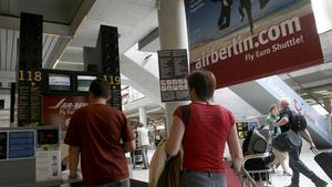 Instalaciones de Air Berlin en el aeropuerto de Palma.