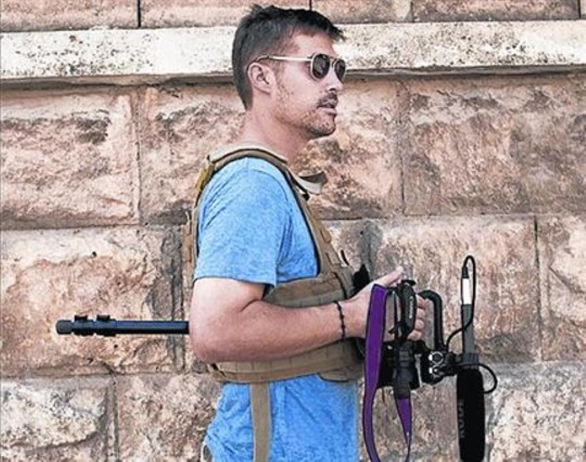 En Siria 8 Imagen de Foley en una cobertura bélica.