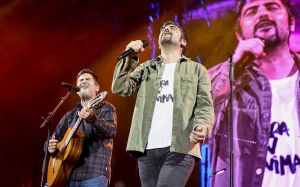 Jose y David Muñoz, durante su concierto del pasado mes de diciembre en el Palau Sant Jordi.