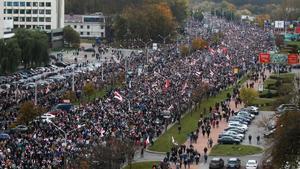 Manifestación contra el presidente en Minsk este domingo