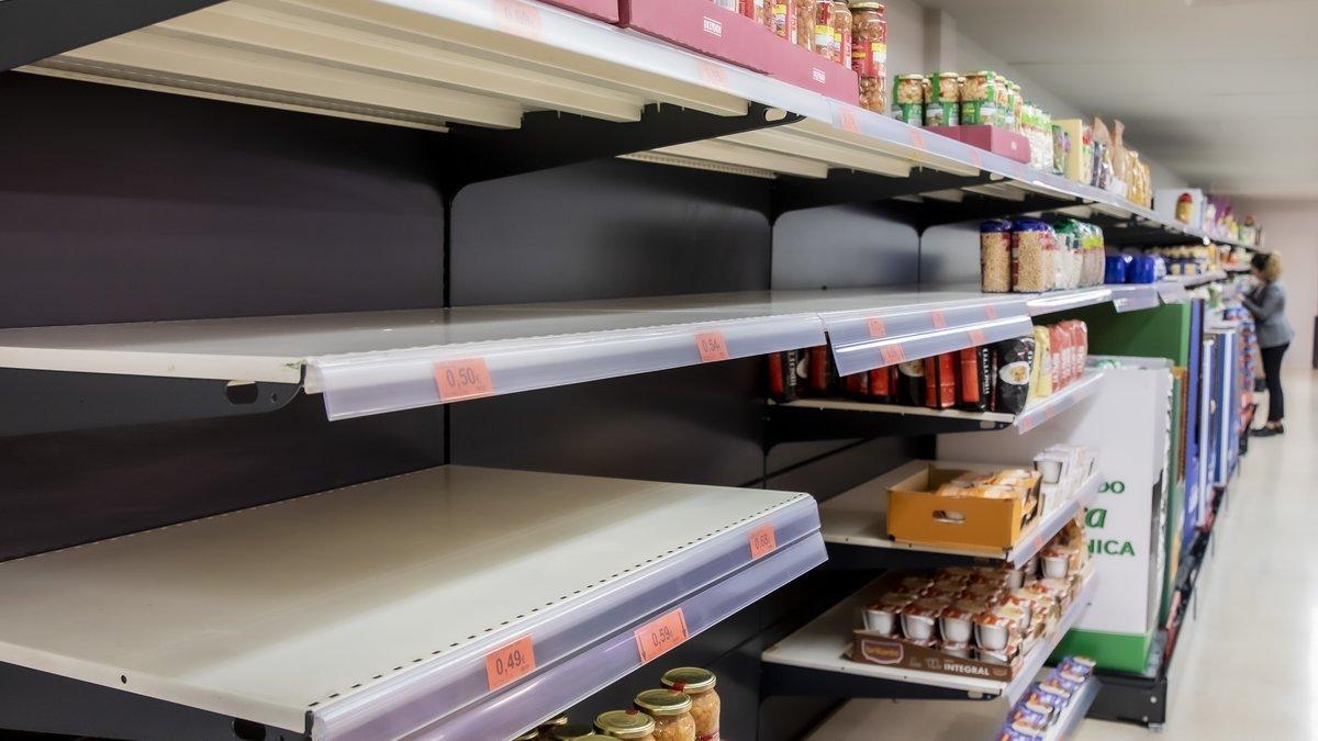 Lineales de un supermercado.