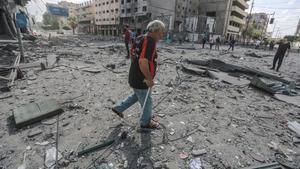 Uno de las zonas más afectadas por los bombardeos israelís en Gaza.