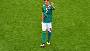 Mesut Özil, en su último partido con la selección con la selección alemana.