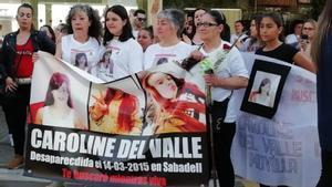 """La madre de la desaparecida Caroline del Valle:""""Todos tienen derecho a ser buscados"""""""