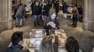 Ambiente electoral en la Universitat de Barcelona.