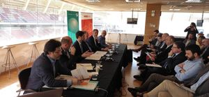 El Consejo de Alcaldías del Vallès Oriental, celebrado el pasado miércoles durante toda la mañana en el Circuito de Barcelona-Catalunya.