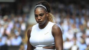 Serena Williams, en su partido de semifinales.